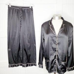 Victoria's Secret Black White Pj Pant Set Small